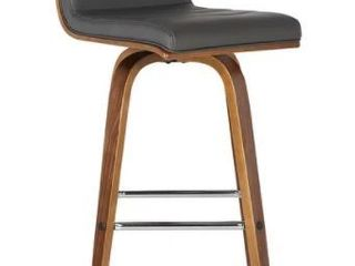 Carson Carrington Skara 26 inch Swivel Walnut Counter Barstool w  Faux leather Upholstery  Retail 133 49