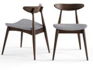 Carson Carrington lund Mid century Dining Chair  Set of 2  Retail 153 49