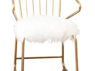 Silver Orchid Banks Faux Fur Dining Chair  Retail 133 49