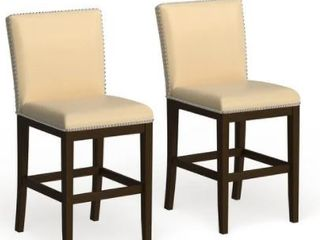 Strick   Bolton Hugo 24 inch Faux leather Counter Stool  Set of 2  Retail 319 93