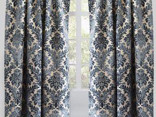 Rodeo Home Rod Pocket Georgina Damask Curtain Panel Pair  Retail 118 49
