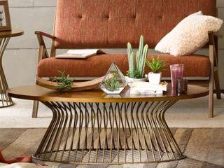 Carson Carrington Telsiai Bronze Coffee Table Base Only  Retail 298 99