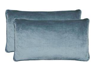 Jean Pierre lucas lumbar Velvet 2 Piece Throw Pillow Set