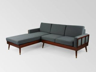 Arkwright 3 Seater Fabric Sectional Set with Chaise lounge by Christopher Knight Home  Retail 974 49