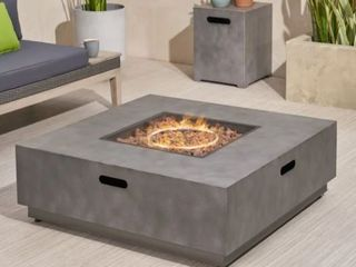 Wellington Outdoor 40 Inch Square Fire Pit by Christopher Knight Home  Retail 619 49