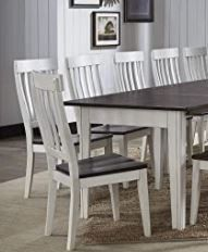 Simply Solid Tessa Solid Wood White And Dark Brown Dining Chairs  Set Of 2