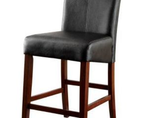 Furniture of America Kiva Modern Cherry Counter Dining Chairs  Set Of 2