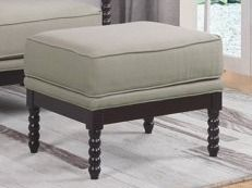 Best Master Furniture Beige Espresso Upholstered Ottoman  Retail 577 99