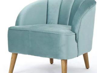 Velvet Seafoam Green Accent Chair