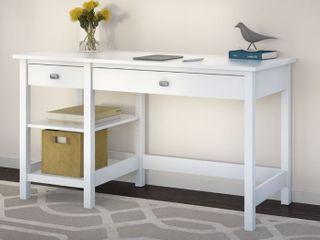 Broadview White Open Storage Desk