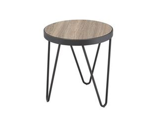 Carbon loft Cartwright Weathered Grey Oak End Table  Retail 86 49