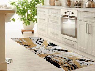 MARBlE Kitchen Mat by Kavka Designs  Retail 128 99