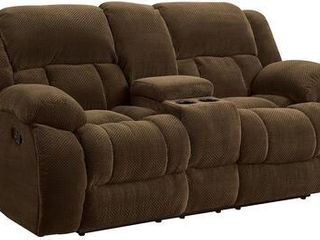 Coaster Home Furnishings Motion loveseat  Brown  Weissman Motion Collection  Retail   1 039 29