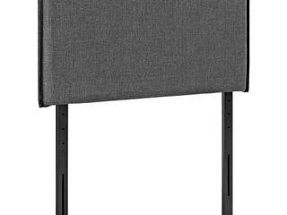 Camille Grey Fabric Twin Headboard  Retail 93 99