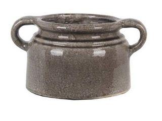 large Gray Ceramic Vase