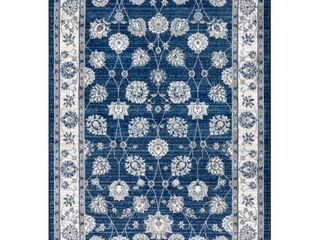 JONATHAN Y Modern Persian Vintage Moroccan Traditional Navy light Grey 8 ft  x 10 ft  Area Rug