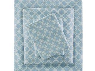 King Flannel Sheet Set Blue
