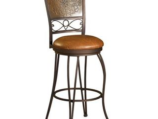 Powell Bailey Stamped Back Bar Stool  30 in  Seat Height  Retail 112 99