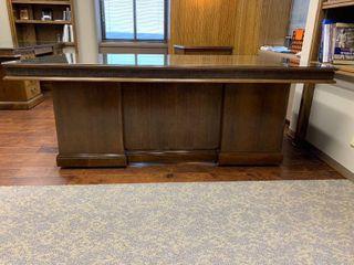 Nice wood Executive desk with glass top