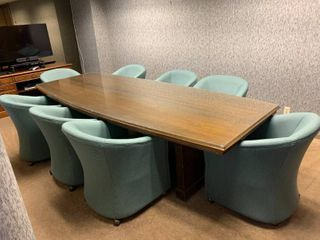 large conference table and chairs