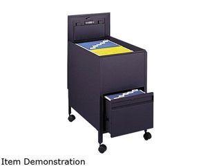 Safco 1 Drawers Filing Cart lockable   Black