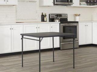 34 Resin Top Folding Table   Black   Cosco