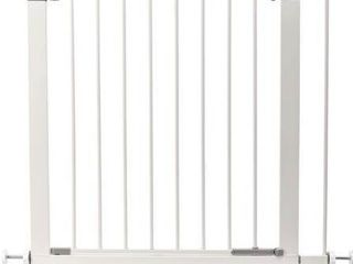lEMKA Walk Thru Baby Gate Auto Close Safety Pet Gate Metal Expandable Dog Gate with Pressure Mount for Stairs Doorways