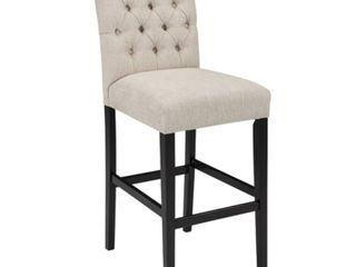 Tall Tripton Uph Barstool linen   Signature Design by Ashley