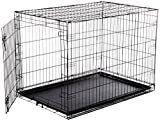 AmazonBasics Single Door Folding Metal Dog Crate   large  42x28x30 Inches
