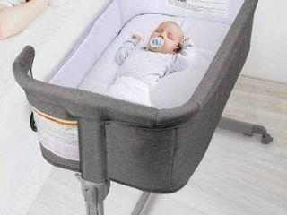 3 in 1 Baby Bassinet  Bedside Sleeper for Baby  Playpen  Easy Folding Portable Crib  Grey  KoolaBaby