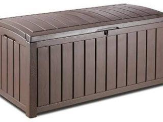 Keter Glenwood Plastic Deck Storage Container Box Outdoor Patio Furniture 101 Gal