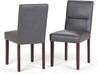 Simpli Home Ashford Parson Dining Chair  Set of 2