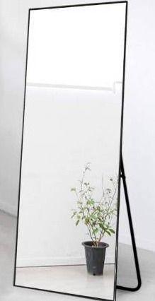 NeuType Full length Mirror Floor Mirror with Standing Holder Bedroom locker Room Standing Hanging Mirror Dressing Mirror Wall Mounted Mirror  Black
