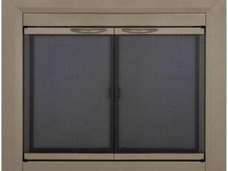 Pleasant Hearth CB 3301 Colby Fireplace Glass Door  Sunlight Nickel  Medium