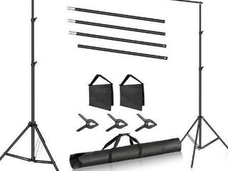 Neewer Photo Studio 10ft 3m Wide Cross Bar 6 6ft 2m Tall Adjustable Background Stand Backdrop Support System with 3 Backdrop Clamps  2 Sandbags and Carry Bag for Portrait Product Video Photography