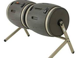lIFETIME 60309 Outdoor Double Bin Rotating Composter  50 Gallon