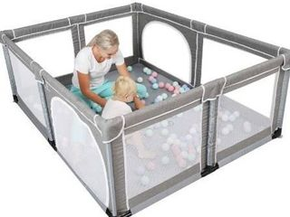 YOBEST Baby Playpen  Playpen for Toddlers  Indoor   Outdoor Kids Activity Center with Gate  Sturdy Safety Baby Play Yard Fence  Baby Fence Play Area for Babies  Toddler  Infants