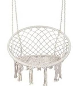 Y  STOP Hammock Chair Macrame Swing  Max 330 lbs  Hanging Cotton Rope Hammock Swing Chair for Indoor and Outdoor Use
