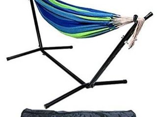 Balancefrom Double Hammock With Space Saving Steel Stand And Portable Carryin