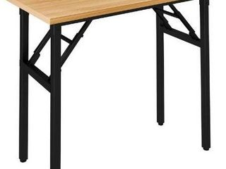 Need Small Desk 31 1 2  No Assembly Foldable Writing Table Sturdy and Heavy Duty Folding Computer Desks for Small Space Perfect Addition to Home Office Dormitory