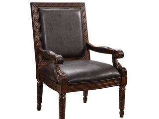 Manfred Upholstered Accent Chair Medium Brown   Treasure Trove