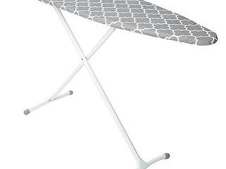 homz steel ironing board contour grey   white lattice cover  grey and white filigree