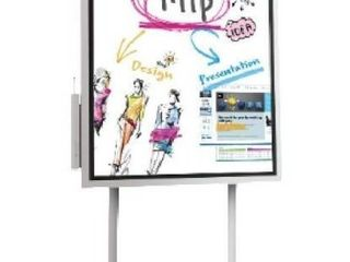 FlIP 55in All in One Digital Flipchart Collaborative Display  Stand Cart