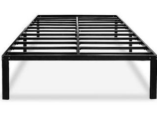 HAAGEEP Black Full Bed Frame No Box Spring Needed 14 Inch Metal Platform Heavy Duty Beds Frames