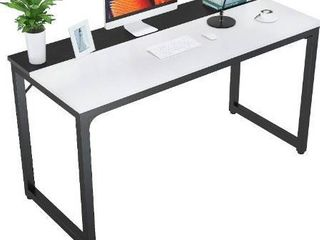Foxemart 47 Inch Computer Table Sturdy Office Desk  Modern PC laptop 47a Writing Study Gaming Desk for Home Office Workstation