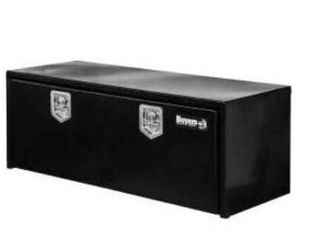 Buyers Products 18x18x48 Inch Black Steel Underbody Truck Box with 3 Point latch