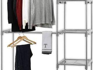 Simple Houseware Freestanding Portable Cloths Storage Utility Closet Organize