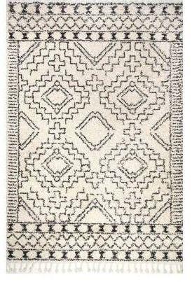 Vasiliki Moroccan Tassel Shag Off White 2 8 A8  Area Rug