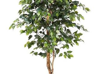 Nearly Natural 6ft  Ficus Artificial Trees  72in  Green