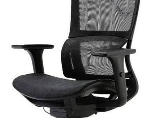XUER Ergonomic Office Chair with Cozy lumbar Support and Adjustable 3D Armrest  Computer Desk Chair with Mesh Seat and High Back  Multifunction for Relaxation  Black
